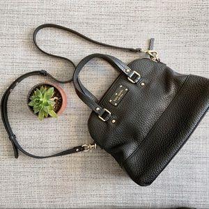 KATE SPADE black shoulder bag leather  purse
